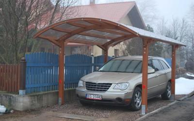 AP05 Autostoginė Poland, 300x600cm, stogas 10mm PC. Kaina nuo 3333 Eur