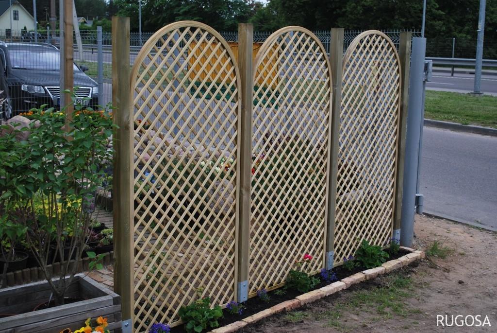 """Pynutės trellis tvora """"Rožė"""", skydai 90x183 cm"""