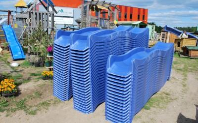 SU11 Platikinės čiuožyklės, 290x50 cm, iš HDPE plastiko. Kaina nuo 75 Eur
