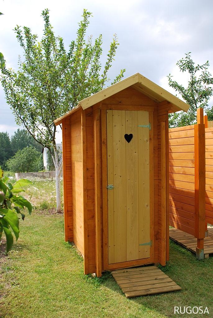 LT04 Lauko tualetas su persirengimo kabina, 100x150cm +160x160cm , siena 28mm, kabina skydinė 19mm, nedažytas. Kaina 1299 Eur