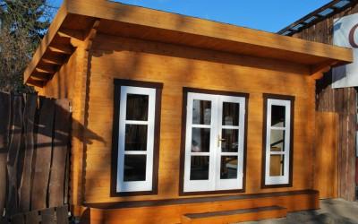 SN01 Sodo namelis /pavilionas 500x400 cm, vienšlaitis, sienos storis 60 mm. Kaina nuo 3950 Eur