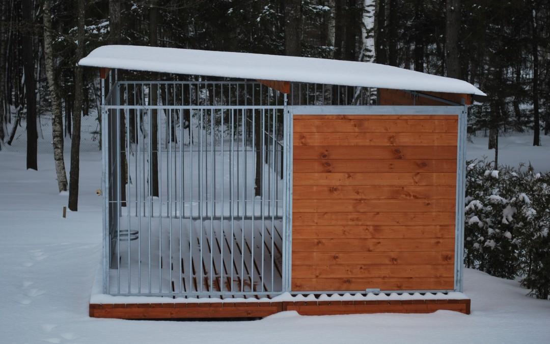 Voljeras Sniegas, 400x400x1645 (h) cm, segmentinis