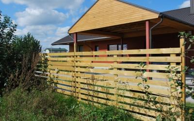 Horizontali tvora, vienpusė, lentelės 19x95 mm, dažyta arba  impregnuota