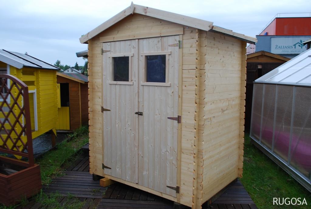 IN2 Sandėliukas/įrankių namelis 180x180 cm, siena 19 mm, be grindų, stogas 12 mm OSB, ruberoidinė danga. Kaina nuo 449 Eur