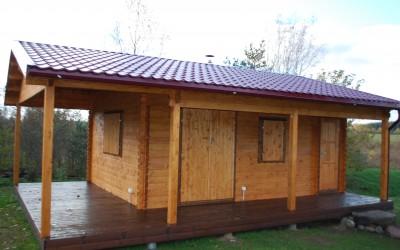 PR08 Pirtis 600x400cm su veranda 250x400cm , siena 60mm, garinė 300x300cm, tualetas 100x100cm .