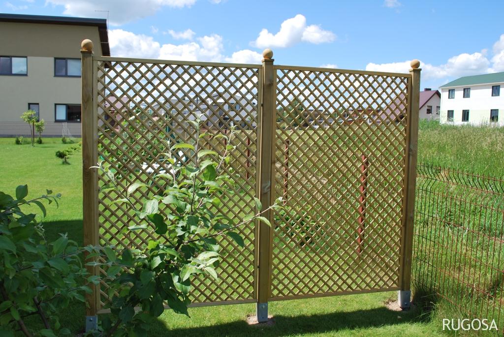 Pynučių tvora Trellis 120x183 cm, rėmas 28x32 mm