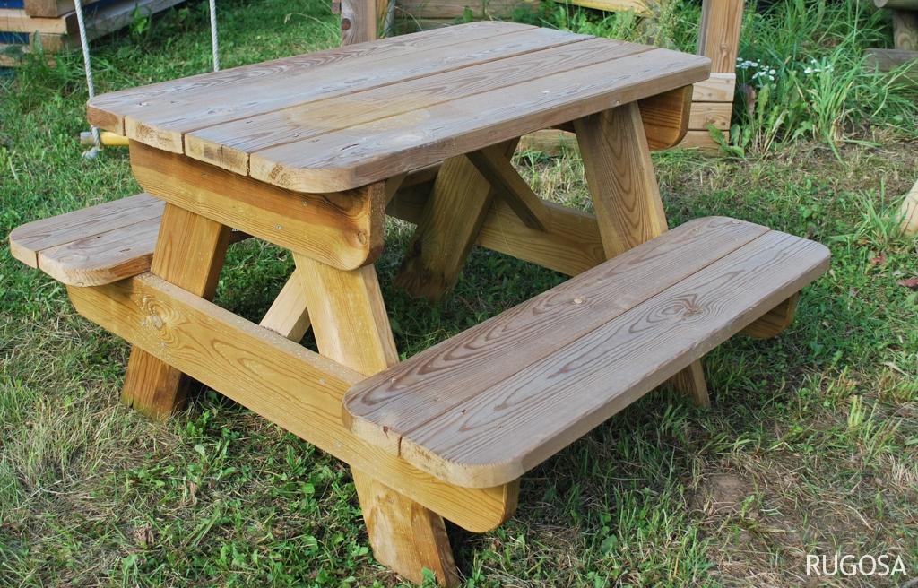 LB08  Vaikiškas piknik stalas Ančia, 90x97x h 54cm. Kaina nuo 184  Eur