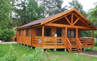 Vasarnamis su veranda, 700x1100 cm, 3 kambarių, veranda 250x700 cm, sienos storis 60 mm