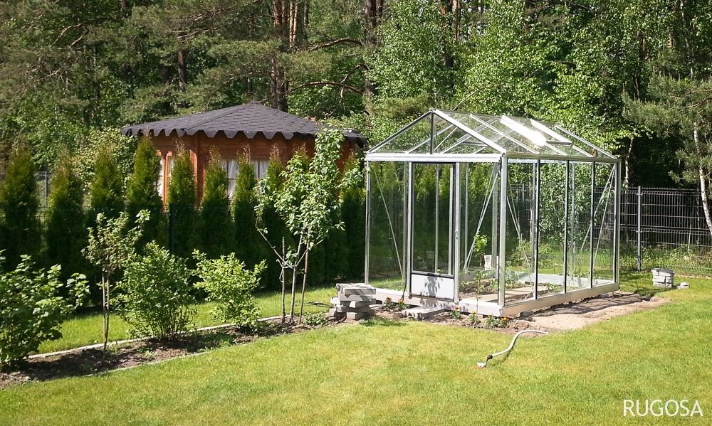 Šiltnamis Ventus, 236x309 cm, danga – 4 mm grūdintas stiklas