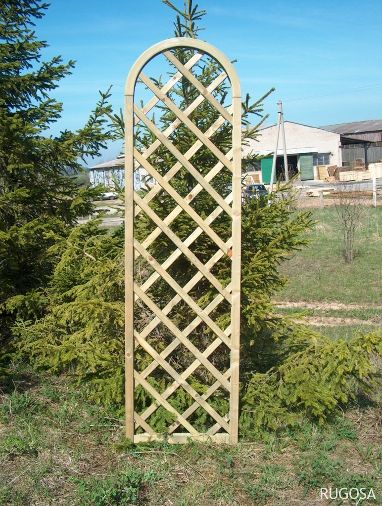 Tvoros skydas Kadigo su lanku, 60x205/180 cm, rėmas 45x45 mm, lystelės 12x33 mm