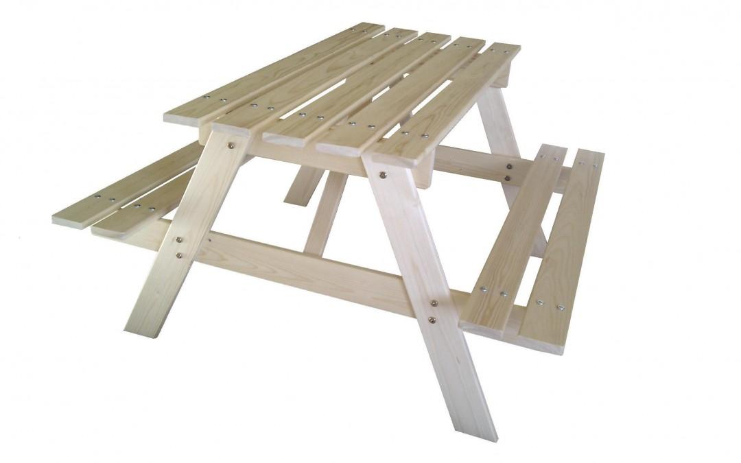 Vaikiškas piknik stalas Davi, 90x90 cm, lentelės storis 15 mm