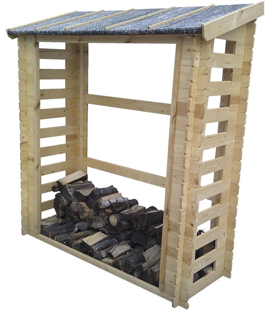 MA02 Malkinė Mini, 58x160x200cm, vienšlaitė, siena 19 mm, galima sukrauti iki 2 m3 malkų.  Kaina nuo 161 Eur