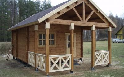 PR03 Pirtis 500x500cm+veranda 300x500cm, siena  90mm. Kaina nuo 13600 Eur