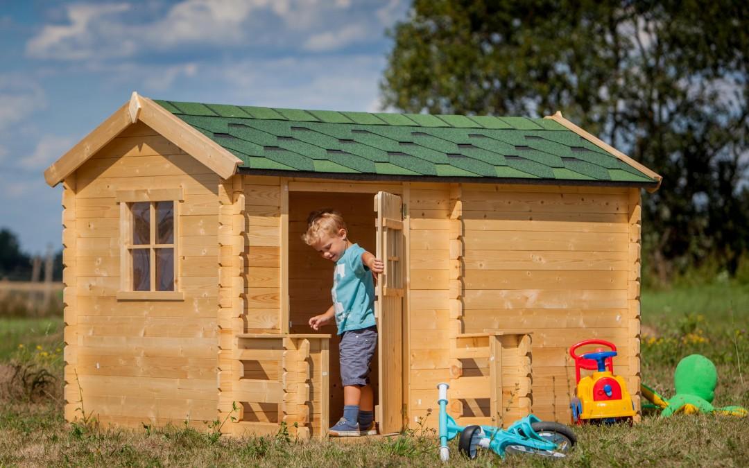 VN06 Žaidimų namelis Odinas, 223x118x h 151cm, siena 19 mm, ruberoidinė stogo danga, nedažytas. Kaina nuo 423 Eur