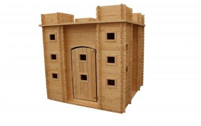 VN13 Žaidimų namelis Tvirtovė, 192x192x193cm, svoris 280kg,. Pagal užsakymus