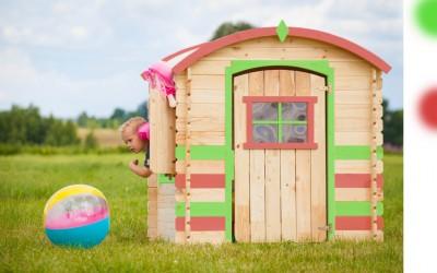 VN08 Žaidimų namelis , 130x105(115x94)x h 145cm, siena 19 mm, ruberoidinė stogo danga, gali būti dažytas.