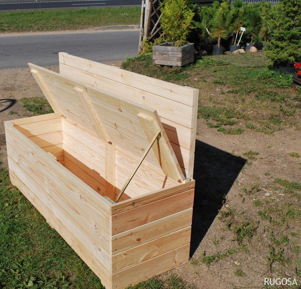sodininko suolas/ įrankių dėžė , 150x50x50 + 45 cm